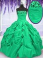 Fashionable Pick Ups Strapless Sleeveless Lace Up 15 Quinceanera Dress Taffeta
