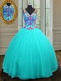 Navy Blue Quinceanera Gown Military Ball and Sweet 16 and Quinceanera and For with Appliques Strapless Sleeveless Zipper