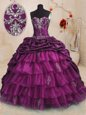 Luxury Sleeveless Lace Up Floor Length Beading and Ruffles Sweet 16 Quinceanera Dress