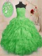 Discount Halter Top Sleeveless Lace Up Sweet 16 Quinceanera Dress Turquoise Tulle