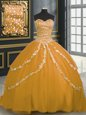 Sleeveless Floor Length Beading Lace Up Quinceanera Dresses with Fuchsia