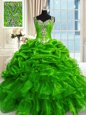 Modest Floor Length Ball Gowns Sleeveless Red 15th Birthday Dress Lace Up