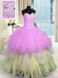 Multi-color Quince Ball Gowns Military Ball and Sweet 16 and Quinceanera and For with Beading and Ruffles Sweetheart Sleeveless Lace Up