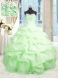 Elegant Floor Length Turquoise Quince Ball Gowns Sweetheart Sleeveless Lace Up