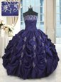 Popular Strapless Sleeveless Organza Quince Ball Gowns Beading and Ruffles Lace Up