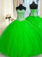 Sequins Floor Length Ball Gowns Sleeveless Quinceanera Dress Lace Up