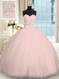 Perfect Pick Ups Strapless Sleeveless Lace Up Quinceanera Dresses Tulle