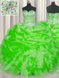 Excellent Pick Ups Floor Length Ball Gown Prom Dress Sweetheart Sleeveless Lace Up