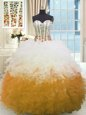 Sweetheart Sleeveless Tulle Quinceanera Gown Beading and Ruching Lace Up