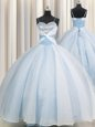 Artistic Spaghetti Straps Organza Sleeveless Floor Length Sweet 16 Quinceanera Dress and Beading and Ruching