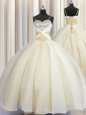 Sleeveless Sweep Train Beading and Ruffles and Pick Ups Lace Up 15th Birthday Dress