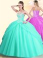 High End Apple Green Quinceanera Dresses Military Ball and Sweet 16 and Quinceanera and For with Beading Sweetheart Sleeveless Lace Up
