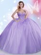 Gorgeous Royal Blue Lace Up Quinceanera Dresses Embroidery and Ruffles Sleeveless Floor Length