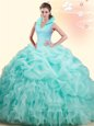 Designer Four Piece Floor Length Multi-color Sweet 16 Dress Sweetheart Sleeveless Lace Up