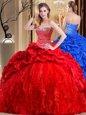 Gorgeous Lace and Appliques Quinceanera Dresses Blue Lace Up Sleeveless Floor Length