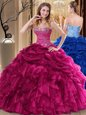 Perfect Straps Multi-color Sleeveless Tulle Lace Up Quinceanera Dress for Military Ball and Sweet 16 and Quinceanera