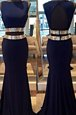 Luxury Mermaid Sleeveless Backless Floor Length Sequins Prom Gown