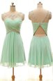 New Style Bateau Sleeveless Chiffon Homecoming Party Dress Beading Zipper