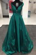 Cute Teal Off The Shoulder Neckline Pleated Prom Party Dress Sleeveless Zipper