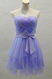 Exceptional Lavender Sweetheart Zipper Sashes|ribbons Prom Dress Sleeveless