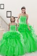 Ball Gowns Sweetheart Sleeveless Organza Floor Length Lace Up Beading and Pick Ups Ball Gown Prom Dress