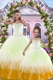 Captivating Multi-color Sweetheart Neckline Beading and Ruffles 15th Birthday Dress Sleeveless Lace Up