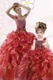 Modest Floor Length Ball Gowns Sleeveless Vestidos de Quinceanera Lace Up