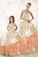 15 Quinceanera Dress Military Ball and Sweet 16 and Quinceanera and For with Beading and Embroidery and Pick Ups Sweetheart Sleeveless Lace Up