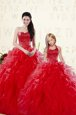 New Arrival Floor Length Coral Red 15th Birthday Dress Sweetheart Sleeveless Lace Up