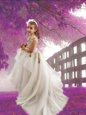 Scoop Long Sleeves Court Train Zipper With Train Appliques Toddler Flower Girl Dress