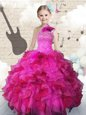 Discount Ball Gowns Girls Pageant Dresses Apple Green Scoop Organza Sleeveless Knee Length Zipper