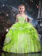 New Arrival Sleeveless Beading and Ruffled Layers Lace Up Little Girl Pageant Dress