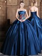 Straps Sleeveless Tulle Floor Length Lace Up Sweet 16 Quinceanera Dress in Fuchsia for with Appliques