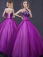 One Shoulder Pattern 15 Quinceanera Dress Lace Up Sleeveless Floor Length