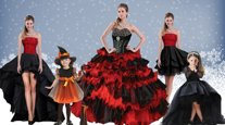 Trendy Beading and Ruffled Layers 15th Birthday Dress Red And Black Lace Up Sleeveless Floor Length