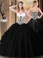 Simple Sleeveless Pick Ups and Pattern Lace Up Quinceanera Dresses
