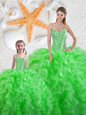 Fitting Sweetheart Sleeveless Lace Up Quinceanera Dresses Organza