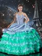 High Class Ball Gowns Quinceanera Dresses Multi-color Sweetheart Organza Sleeveless Floor Length Lace Up