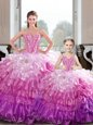 New Arrival Ball Gowns Quinceanera Gowns Hot Pink Sweetheart Organza Sleeveless Floor Length Lace Up