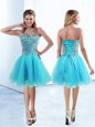 Best Tulle Sleeveless Knee Length Club Wear and Beading