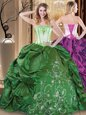 Beautiful Sleeveless Embroidery Lace Up 15 Quinceanera Dress