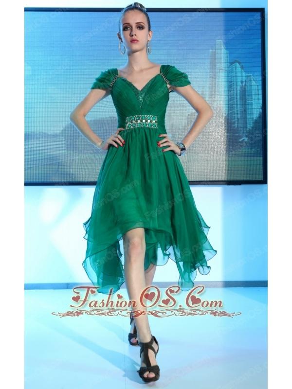 Green High Low Dress