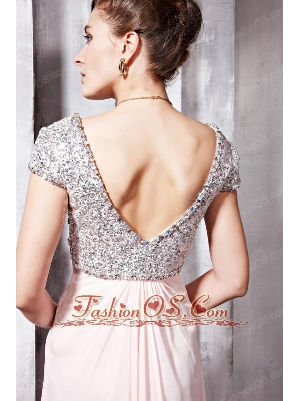 Discount Baby Pink Empire Sweetheart Floor-length Beading Prom Evening Dress