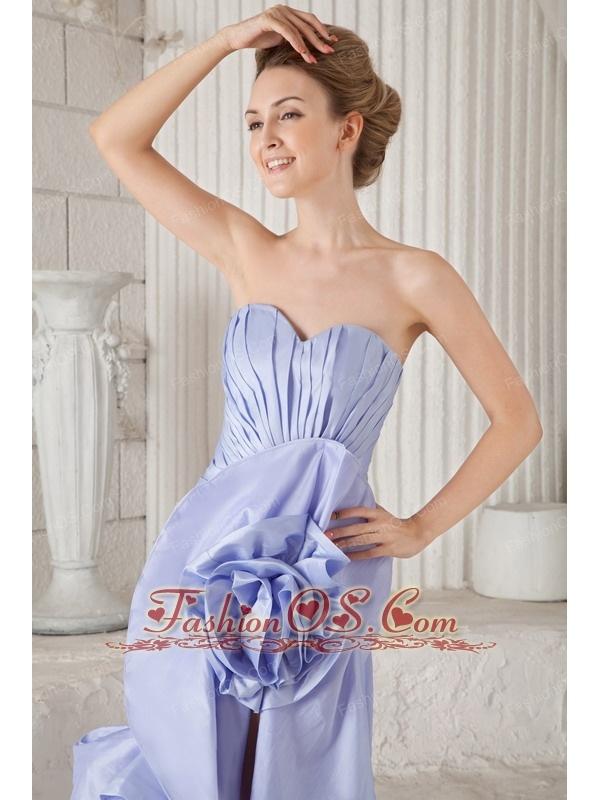 Lilac Mermaid Sweetheart Asymmetrical Taffeta Ruch Prom Dress