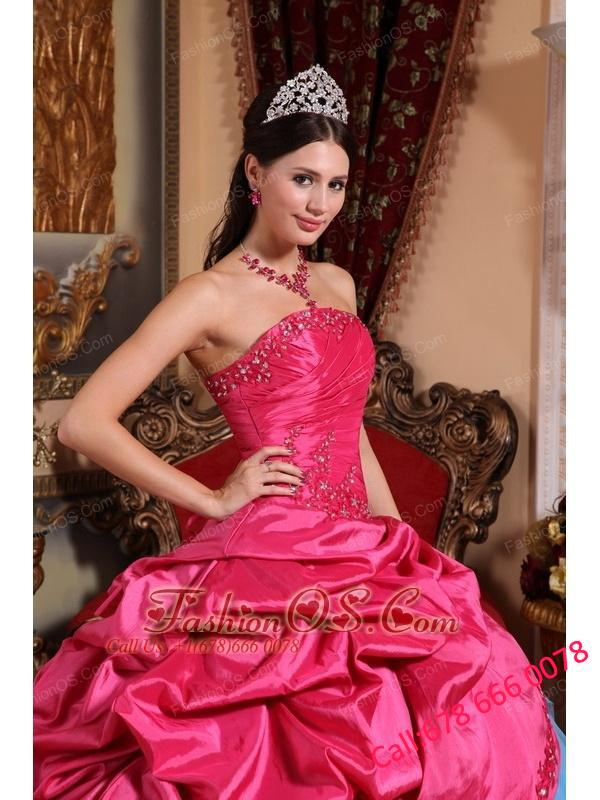 Brand New Red and Blue Quinceanera Dress Strapless Appliques with Beading Ball Gown