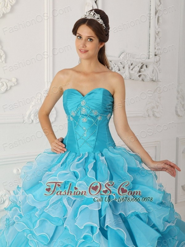Sky Blue Quinceanera Dress