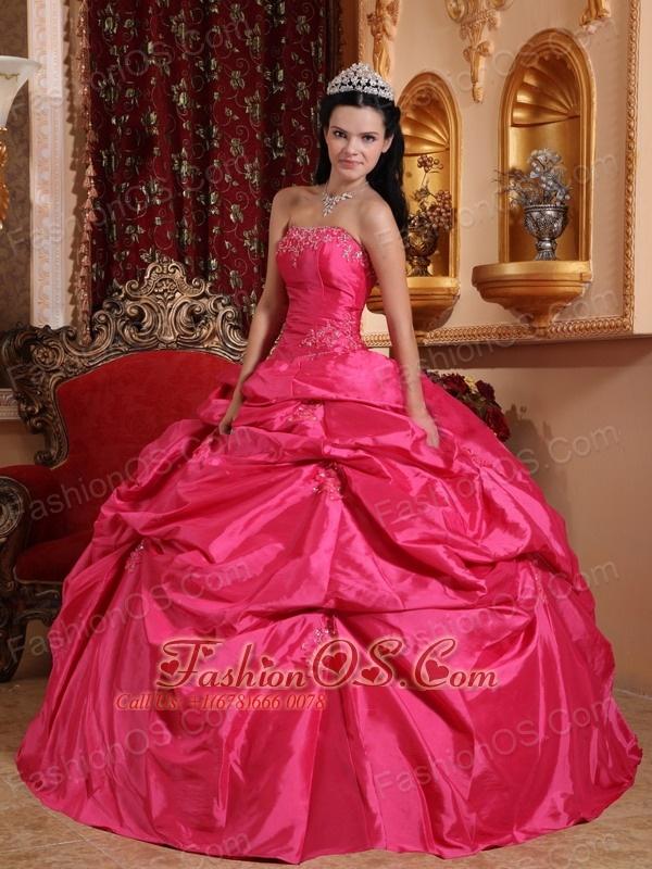 dark pink quinceanera dresses