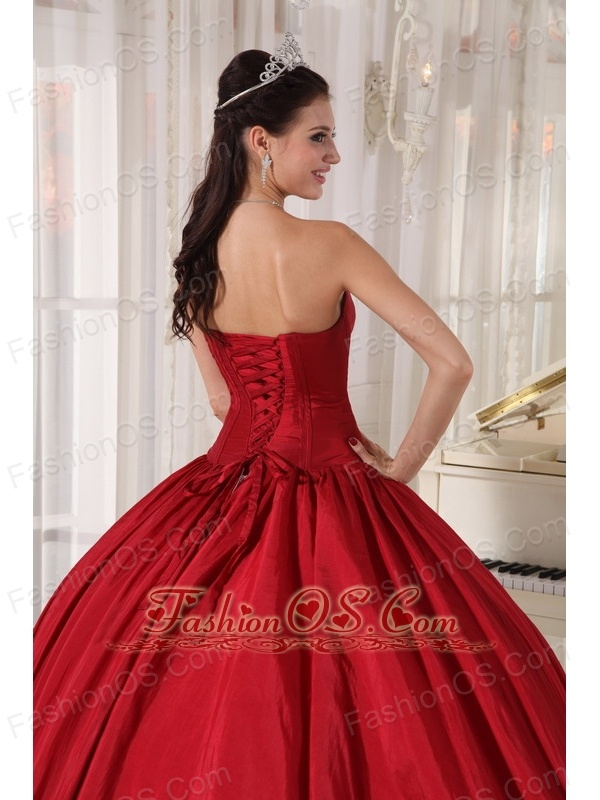 42e75a5d4f8 Royal Ball Gown Style Sweetheart Wine Red Organza Wedding Dress