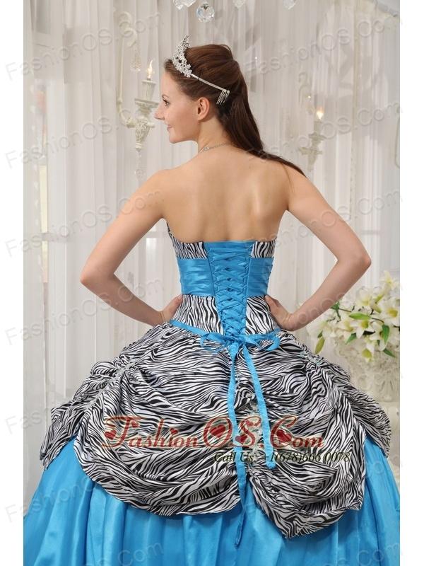 Cheap dress quinceanera zebra