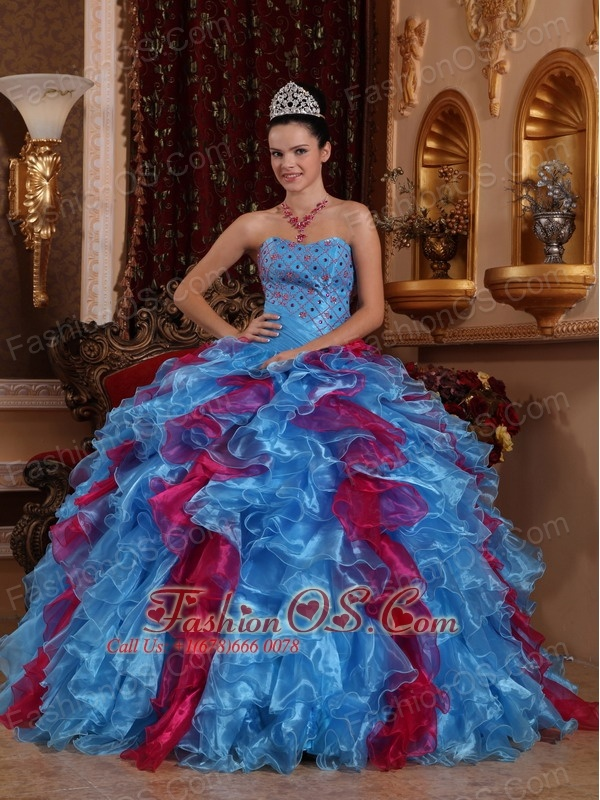 Exclusive Quinceanera Dress Sweetheart Organza Beading Ball Gown